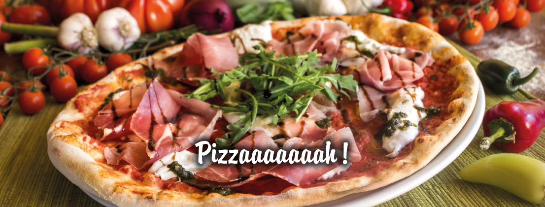 tomaten käse rucola pizza